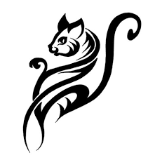 simple tribal cat designs with 28 more ideas