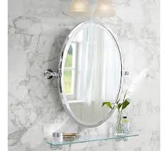 Pottery Barn Beveled Mirror In The Half Bath I Like An Oval Mirror Or Recessed Medicine