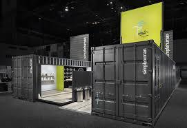 shipping container exhibit for tradeshow cubedepot casas