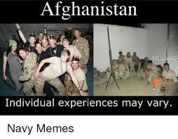 Navy Meme - afghanistan navy memes com individual experiences may vary navy