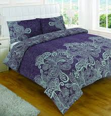duvet cover u0026 pillowcase set purple