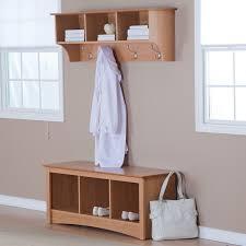 furniture oak cubby coat rack using chrome metal hook plus shoe