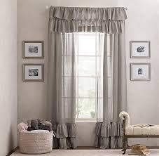 White Ruffle Curtain Panels White Ruffled Curtain Panels