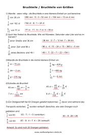 mathe brüche klasse 6 mathe arbeitsblätter
