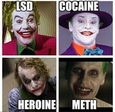 jokers depiction informs us of each decades drug of choice funny