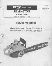 remington late model mighty mite chainsaw workshop downloadable