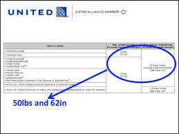 united baggage requirements united airlines baggage international 6209
