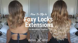 foxy locks hair extensions how to clip in foxy locks hair extensions for medium length