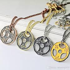trendy necklace pendants images Wholesale new trendy gym accessories jewelry fitness strength jpg