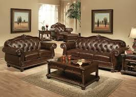 The Living Room Set Furniture Anondale Formal Leather Living Room Set