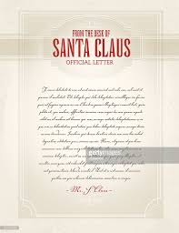 letter from santa template design vector art getty images