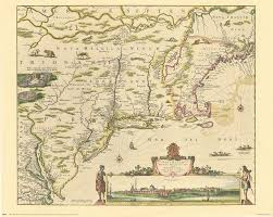 New England Map by Old New England Map Reprints