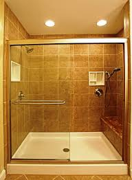 bathroom impressive corner shower stall kits large iron glass impressive corner shower stall kits large iron glass frame with seat and white base shower door design in brown granite wall tile bathroom decor