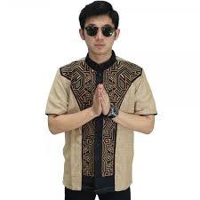 baju koko baju koko pendek bordir jasko modern gold baju muslim