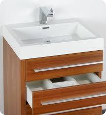 24 Vanity Bathroom by 24 Inch Teak Modern Bathroom Vanity With Medicine Cabinet