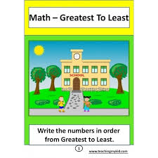 1st grade maths greatest to least 12 printable worksheets