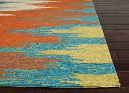 orange and green area rugs combination color of blue yellow and
