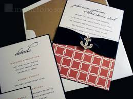 nautical themed wedding invitations nautical wedding invitation