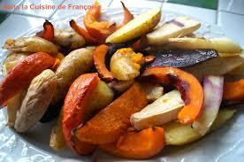 cuisiner les l馮umes d hiver légumes d hiver rôtis au four dans la cuisine de françoise