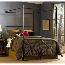 excel queen size canopy bed free shipping today overstock com