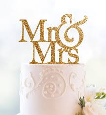 gold wedding cake toppers gold glitter mr and mrs cake topper kitchen dining