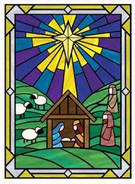 Stained Glass Christmas Window Decorations by El Universo Brilla Ha Llegado La Verdadera Luz Imagenes