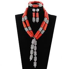 natural coral necklace images Natural coral necklace set c fortune jpg