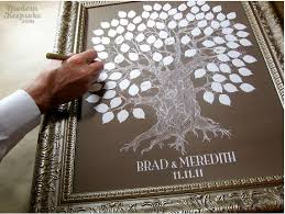 tree signing for wedding alternative guest book ideas custom signature tree via modern