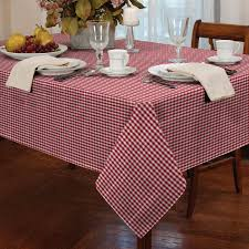 Dining Table Protector by Tablecloth Traditional Gingham Check Round Square Oblong Kitchen