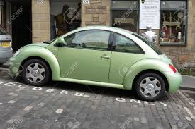 volkswagen green edinburgh scotland uk circa august 2015 light green