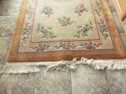 wool rug vintage chinese aubusson wool rug collectors weekly