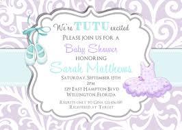 tutu baby shower invitations tutu baby shower