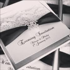 Wedding Invitations With Ribbon Lace Wedding Invitations
