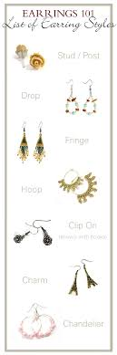 earring styles earrings 101 list of earring styles earrings 101 list of