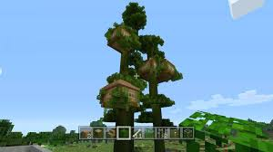 Minecraft Treehouse Ideas Pe Giant Jungle Tree House Completed View
