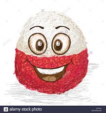 lychee fruit drawing happy lychee fruit cartoon character smiling stock photo royalty