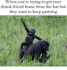 hen you re trying to get your drunk friend home from the bar but