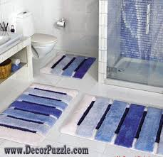 blue bathroom mats interior design