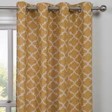Moroccan Print Curtains Moroccan Yellow Panel