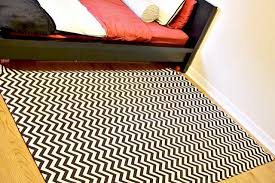 Diy Area Rug From Fabric Chevron Fabric Rug