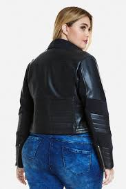 plus size magda faux leather jacket fashion figure