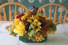 how to make flower arrangements decorating the house for fall with easy to make silk flower