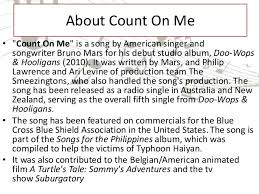 Bruno Mars Count On Me With Lyrics Task X Sma Song Analysis Count One Me Bruno Mars