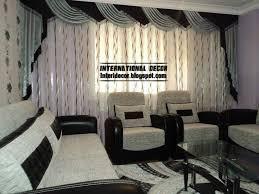 Black And White Curtain Designs Living Room Black Design Curtain Style Tierra Este 55648