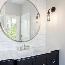 White Bathroom Mirrors by Large Round Bathroom Mirror Design Ideas