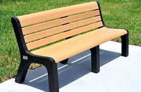 Park Bench Made From Recycled Plastic Recycled Plastic Malibu Bench Benches Site Furnishings