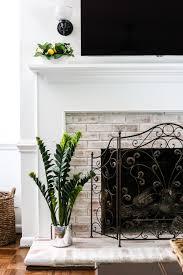 diy lime washed brick fireplace brick fireplace bricks and