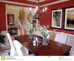 Red Dining Room Table Red Dining Room Stock Photo Image 5243600