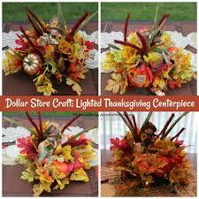 dollar store craft lighted thanksgiving centerpiece