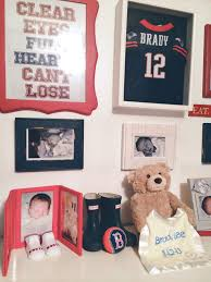 Boston Red Sox Home Decor by Baby Shower Red Sox And Patriots Boston Sports Team Theme